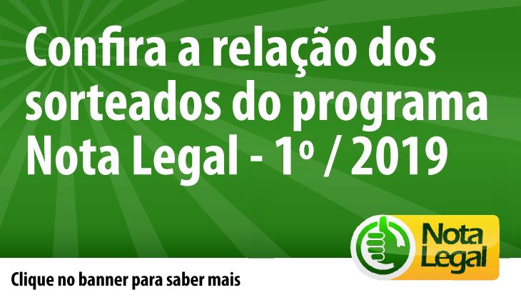 BANNER DA RELAÇÃO DE GANHADORES DO NOTA LEGAL 2019