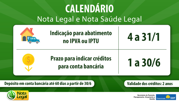 BANNER - CALENDÁRIO Nota Legal e Nota Legal Saúde