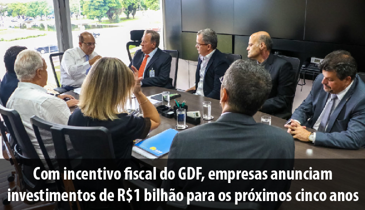 Com incentivo fiscal do GDF, empresas anunciam inv