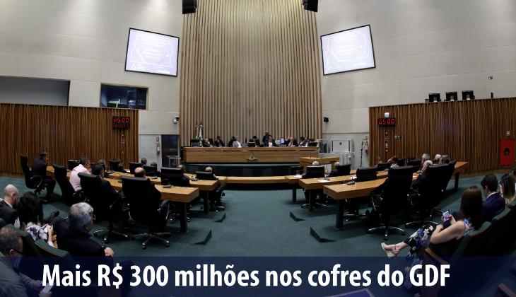 Mais R$ 300 milhões nos cofres do GDF