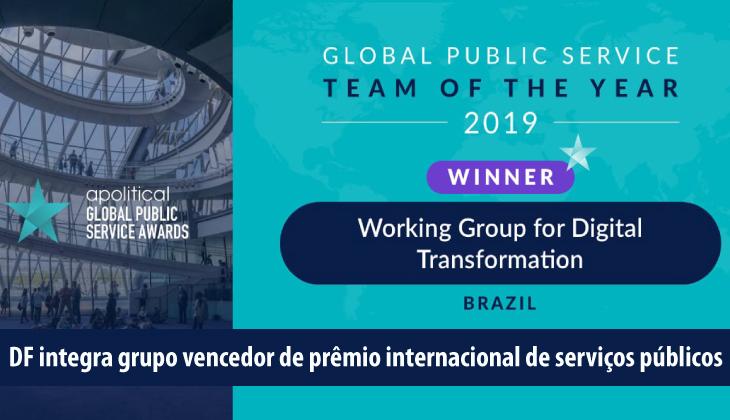 DF integra grupo vencedor de prêmio internacional