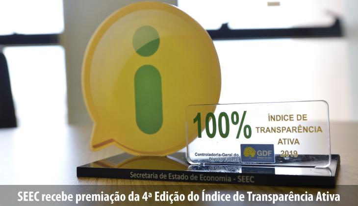 SEEC é premiada na 4ª Edição do Índice de Transpar