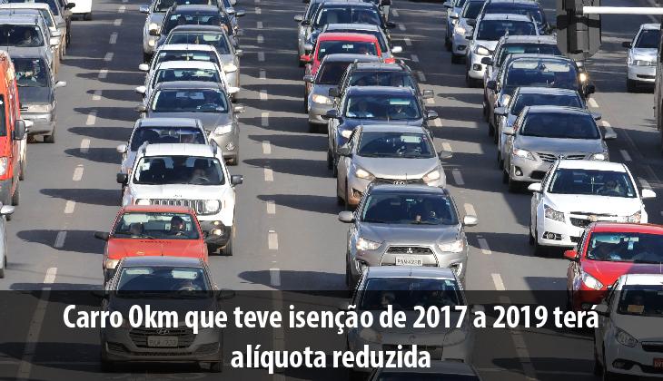 Carro Okm que teve isenção de 2017 a 2019 terá alí