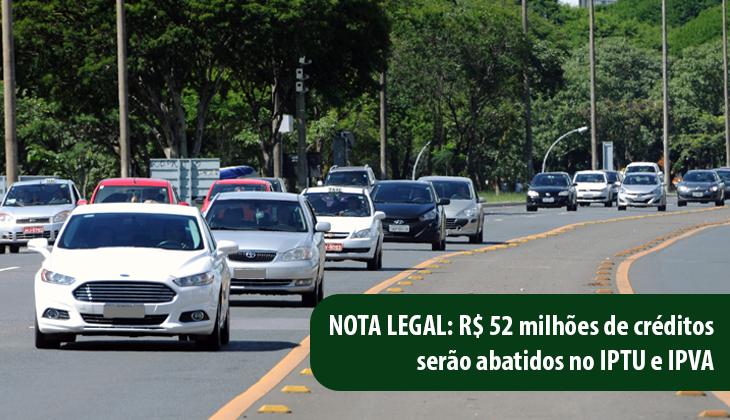 Nota Legal: R$ 52 milhões serão abatidos de IPTU e