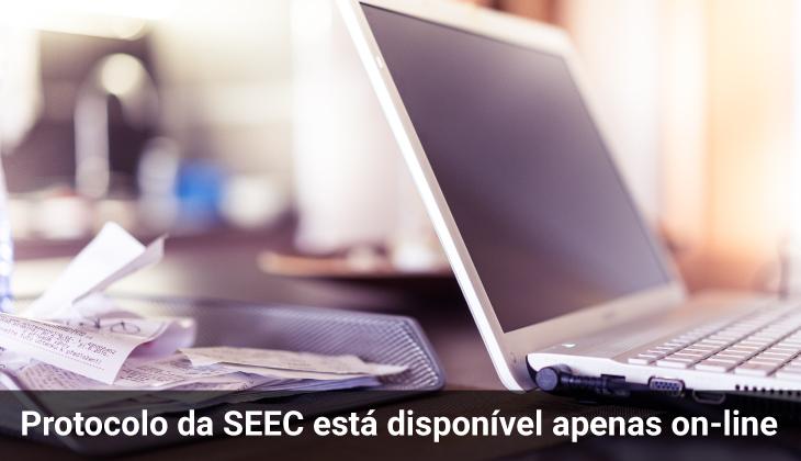 Protocolo da SEEC está disponível apenas on-line