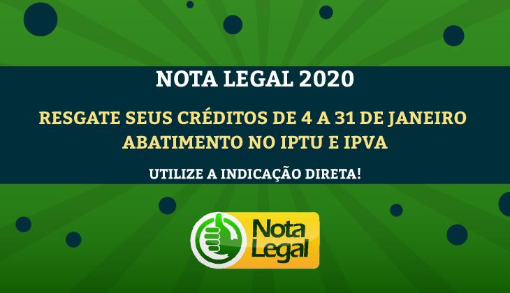 Indicação do Nota Legal para desconto no IPTU e IP