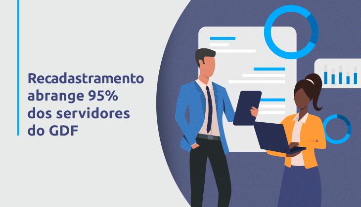 Recadastramento abrange 95% dos servidores