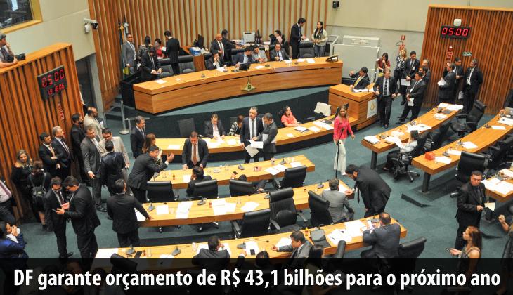 DF garante orçamento de R$ 43,1 bilhões para o pró